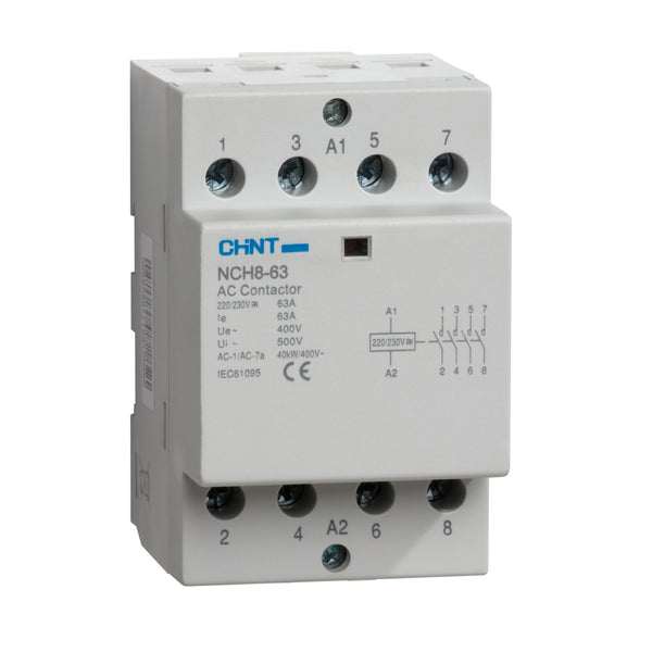 CHINT  40A 230V Modular Contactor - (2 & 4 Pole Variants Available)