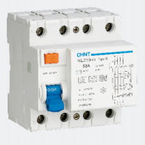 Chint 63A 4Pole (3 phase + Neutral) 30mA, Type B 10KA RCD