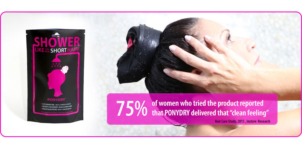 75% of women who tried that product reported that PONYDRY gave them that 'Clean Feeling'