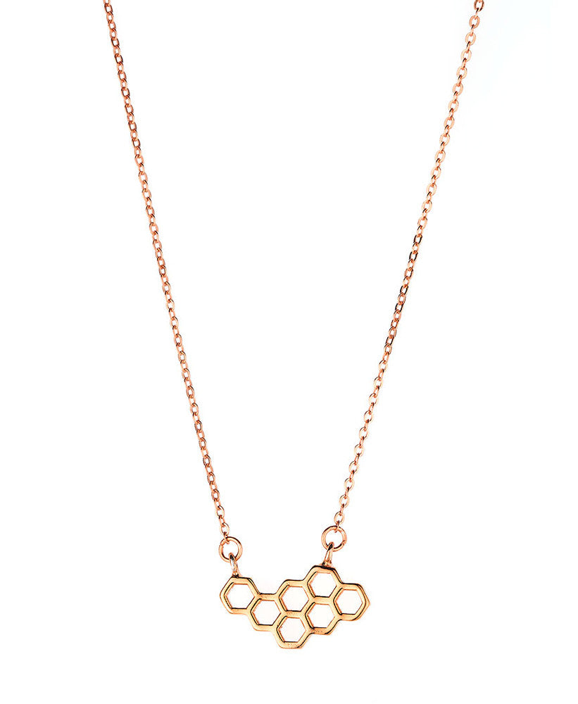 Geometric Honeycomb Necklace
