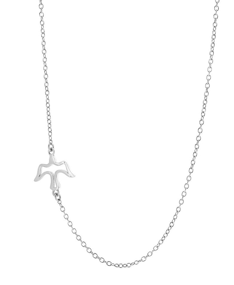 Sideways Bird Necklace