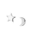 Star & Cresecent Moon Studs