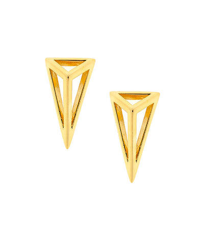 Geometric Diamond Shape Stud Earrings