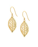 Spring Leaf Hook Earrings
