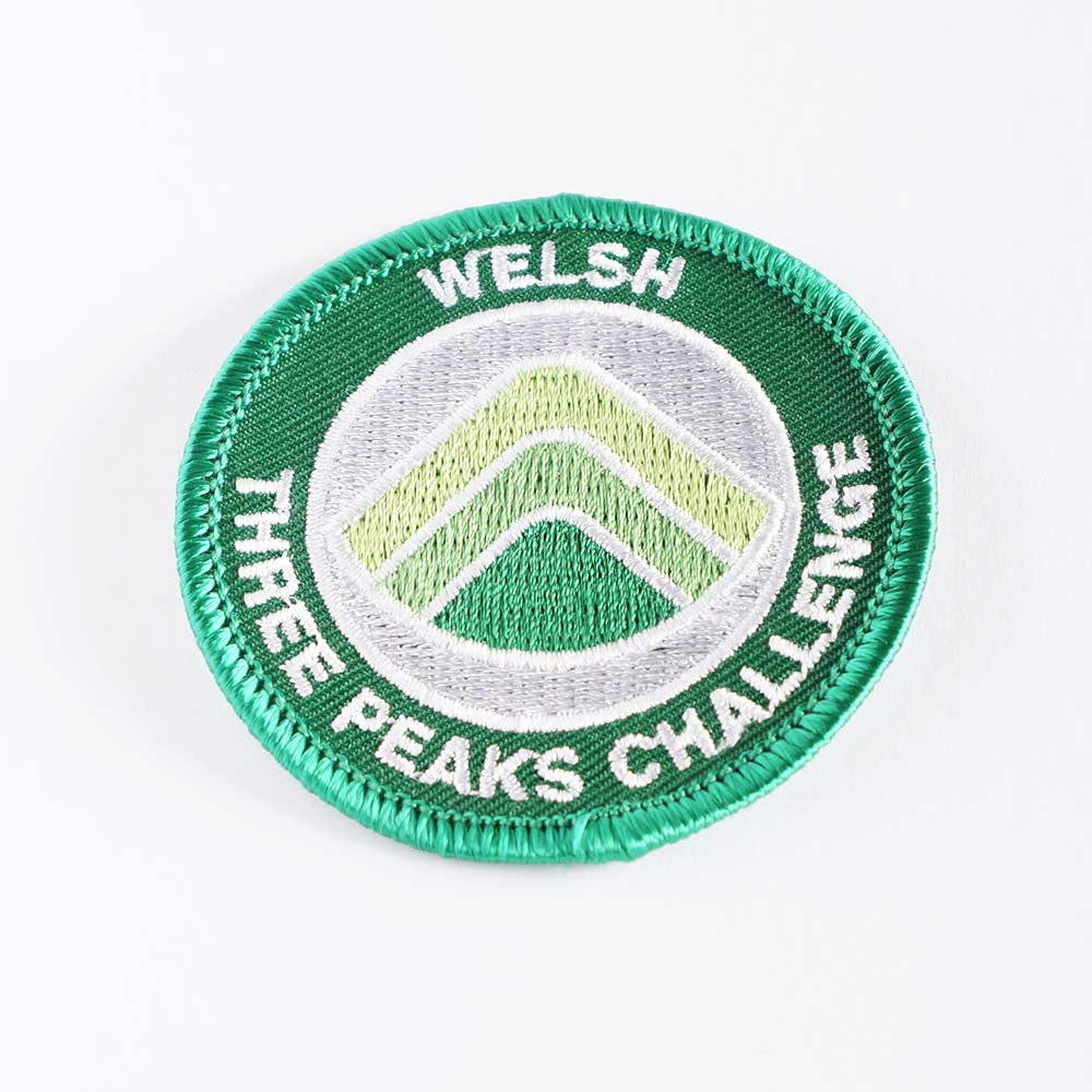 Welsh Three Peaks Challenge embroidered/woven patch - Three Peaks Challenge - 1