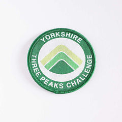 Yorkshire Three Peaks embroidered/woven patch - Three Peaks Challenge - 2