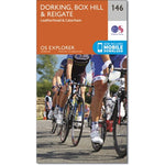 OS Explorer Map 146 Dorking for Box Hill, Leith Hill, Holmbury Hill