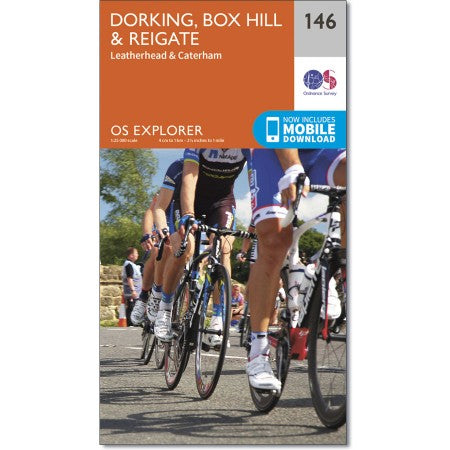 OS Explorer Map 146 Dorking, Box Hill, Leith Hill, Holmbury Hill