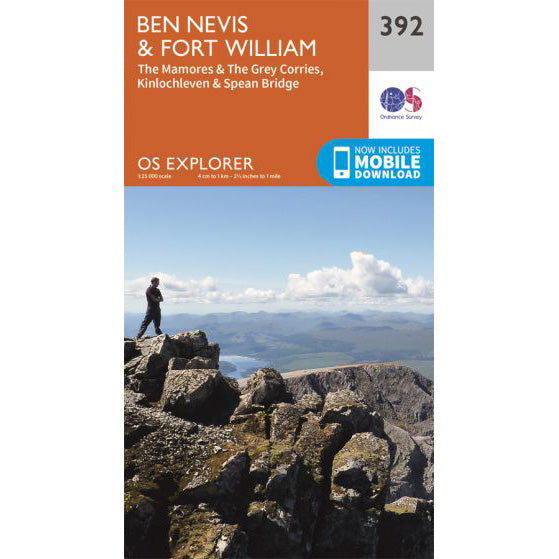 OS Explorer 392 Map for Ben Nevis