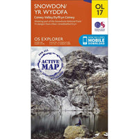 OS Explorer Map OL17 for Snowdon
