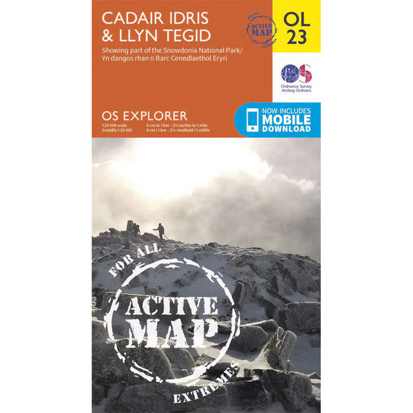 OS Explorer Map OL23 for Cadair Idris