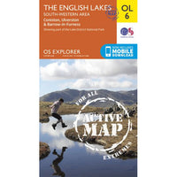 OS Explorer OL6 Map for Scafell Pike