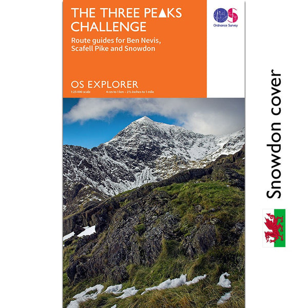 OS Explorer Three Peaks Challenge Snowdon Cover
