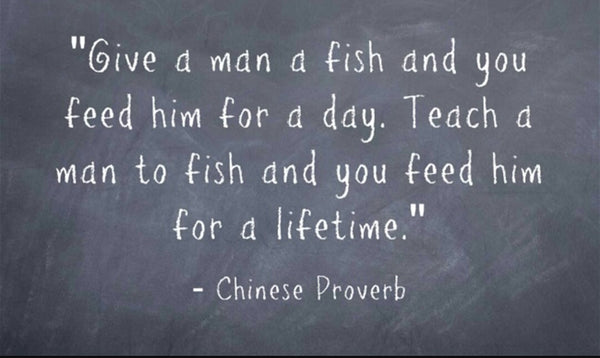 """Give a man a fish"" Chinese proverb, developing Irish seaweed"
