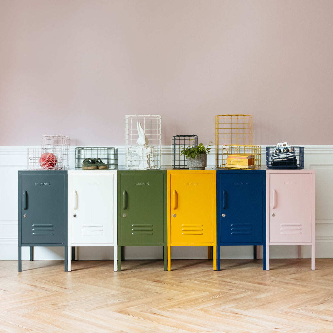 Mustard Lockers - Retro Storage Solutions