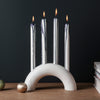 Ferm Living Bow Candle Holder - White Marble - 2