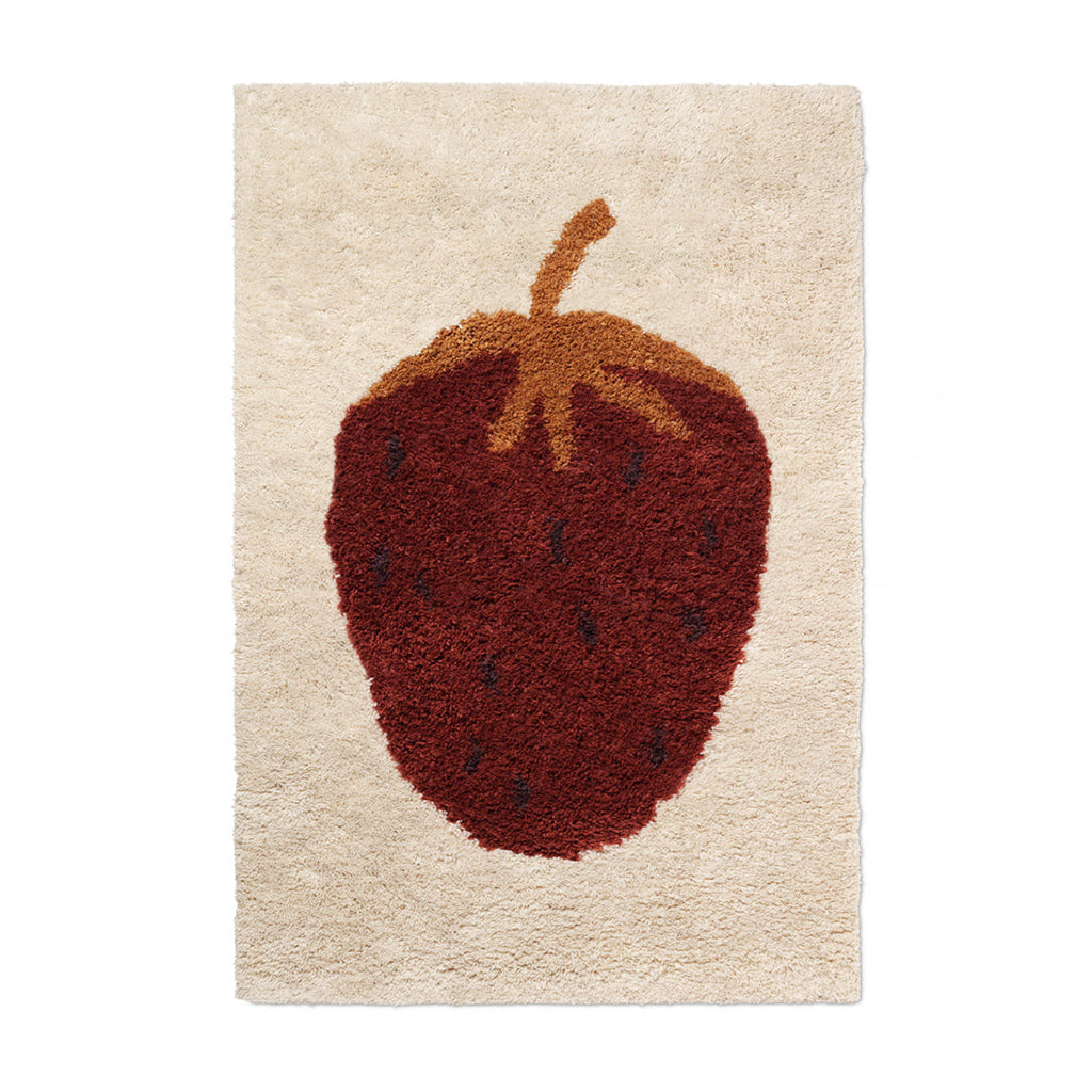Ferm Living Fruiticana Strawberry Rug - Large - 1