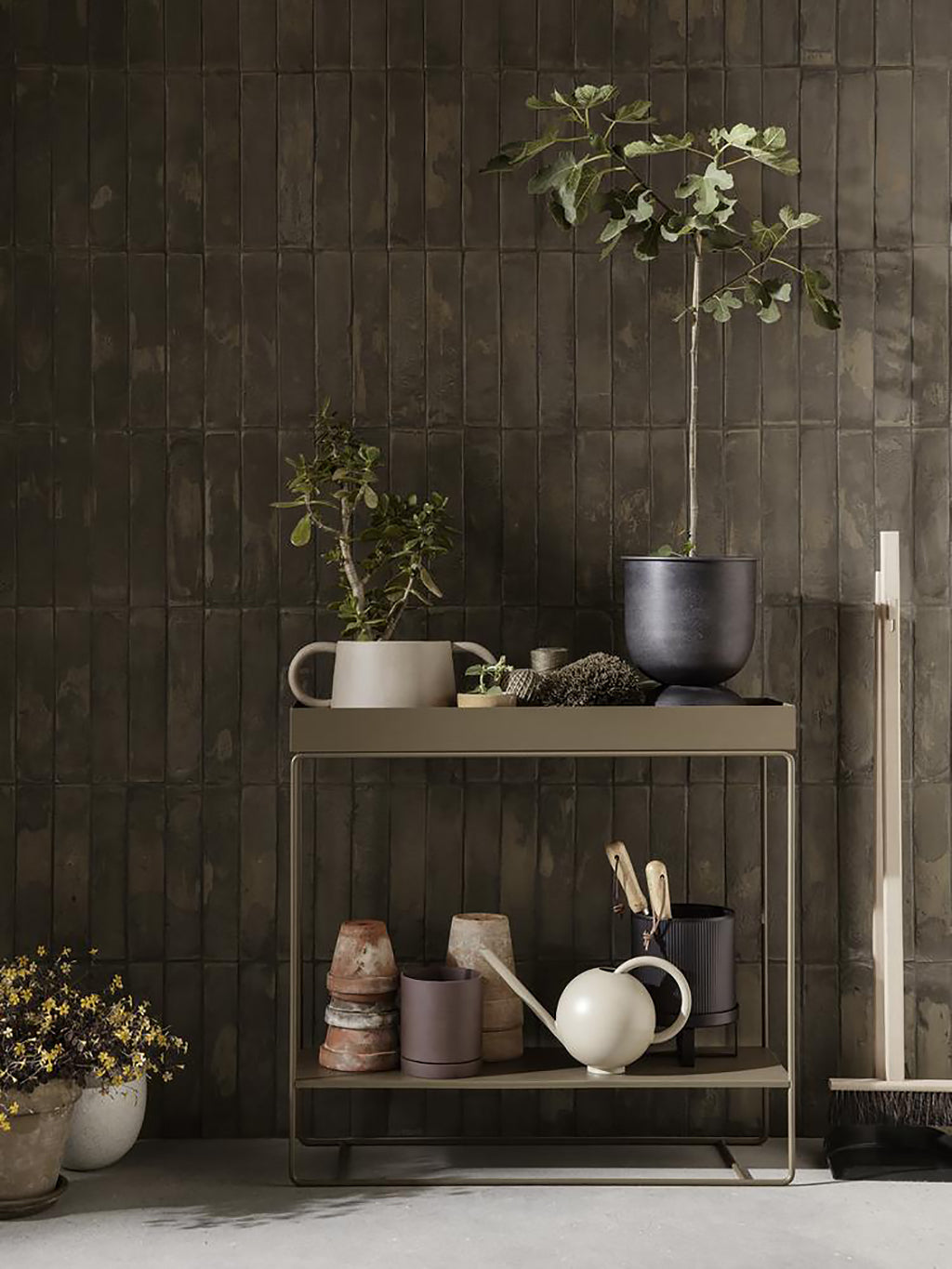 Ferm Living Plant Box, 2 Tiers - Olive - 2