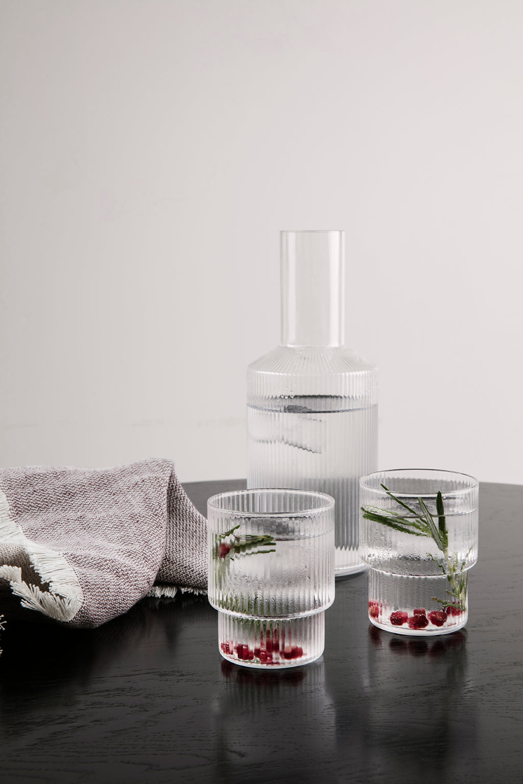 Ferm Living Ripple Glass - Set of 4 - 8