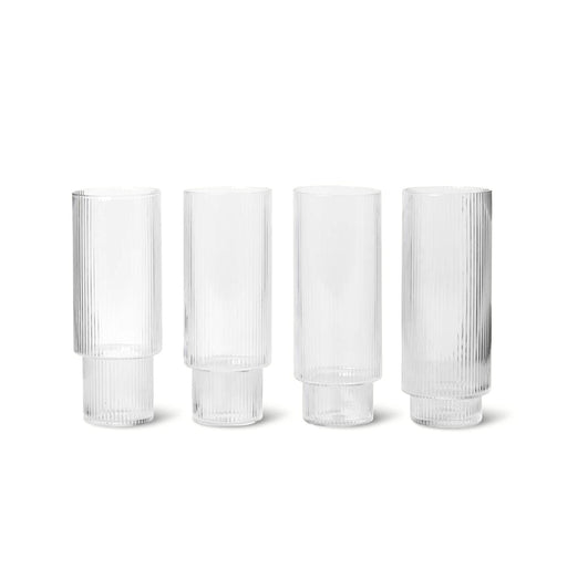 Ferm Living Ripple Long Glass - Set of 4 - 1