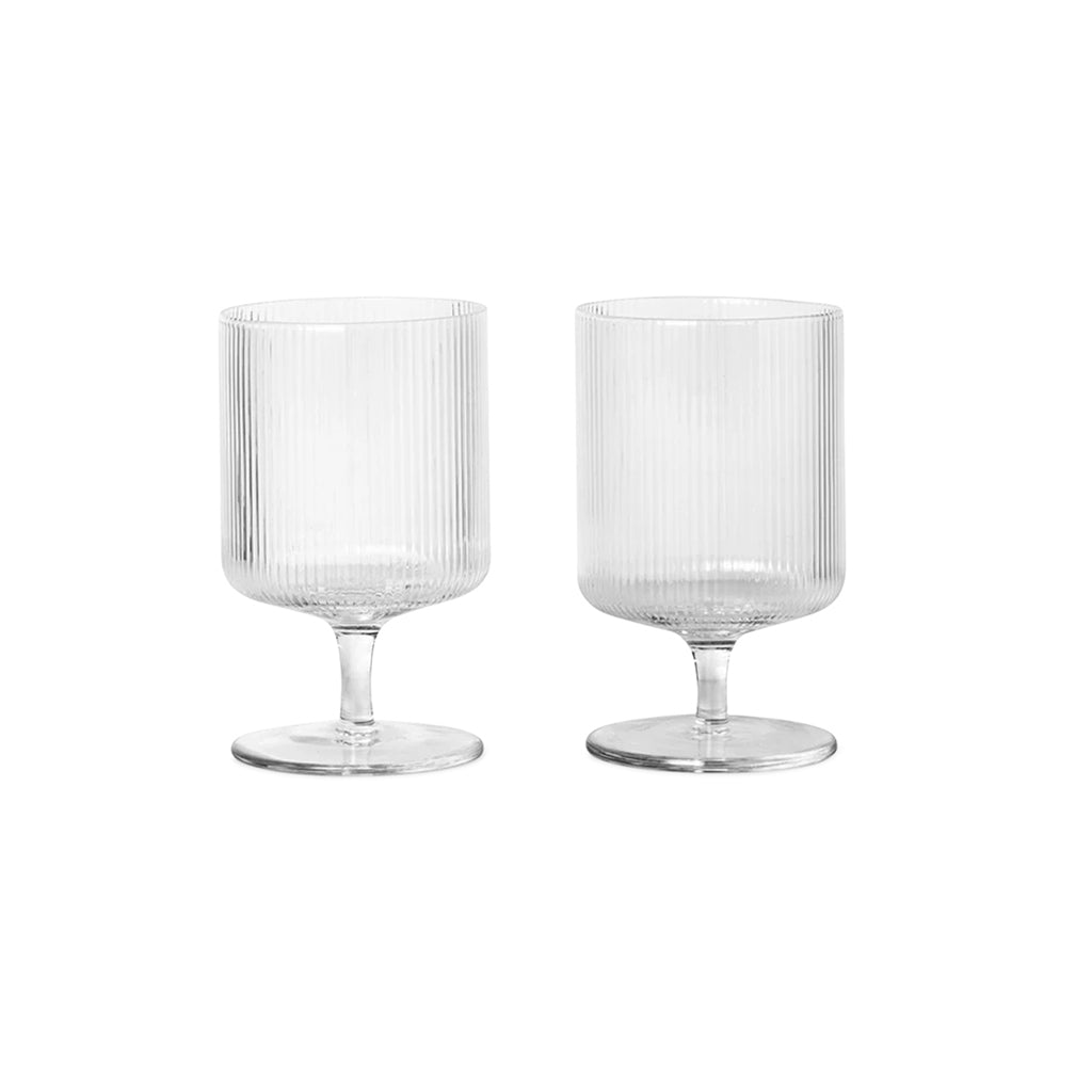 Ferm Living Ripple Wine Glass - Set of 2 - 1