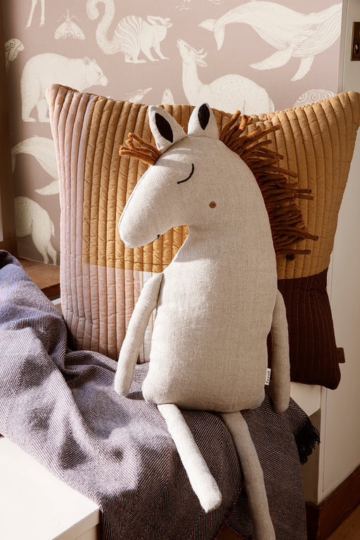 Ferm Living Safari Horse Cushion - Natural - 2