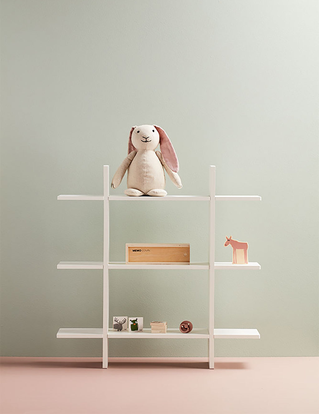 Kids Concept 3 Level Wall Shelf - White - 3