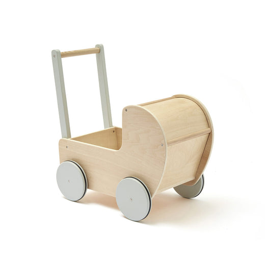 Kids Concept Doll Pram - Natural - 1