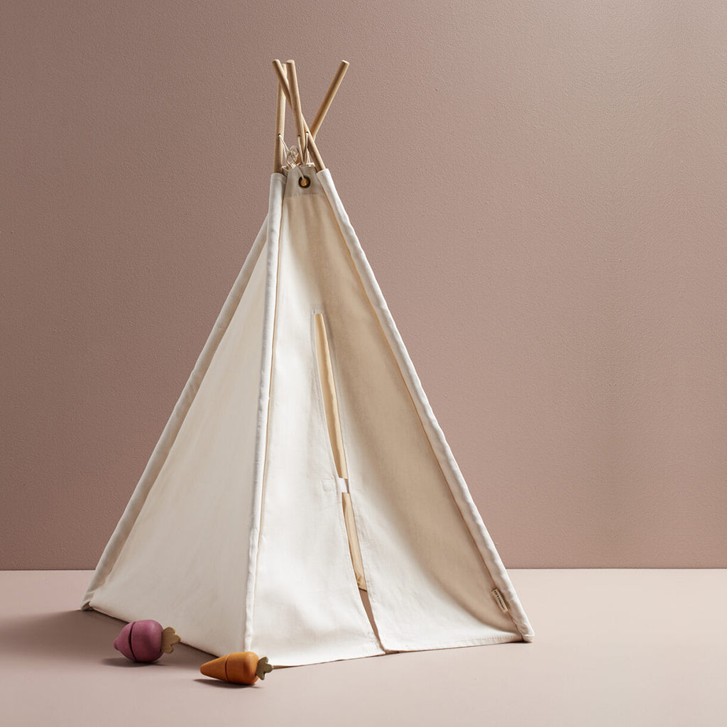 Kids Concept Mini Tipi Tent - Off White - 3