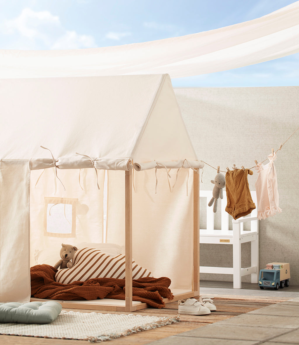 Kids Concept Play House Tent - Off White - 6