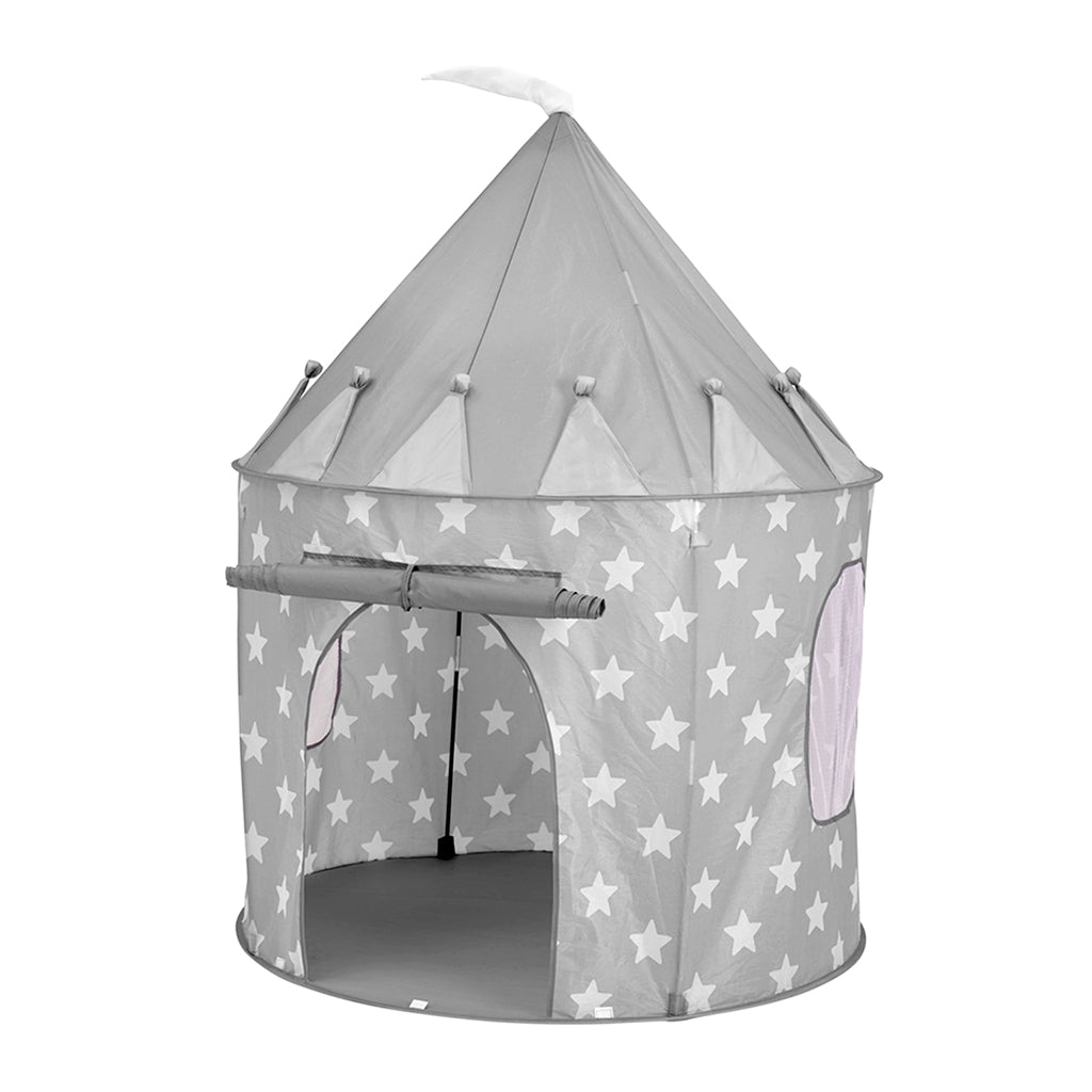 Kids Concept Play Tent - Grey Stars - 1