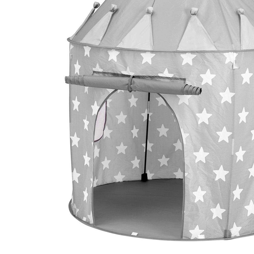 Kids Concept Play Tent - Grey Stars - 2