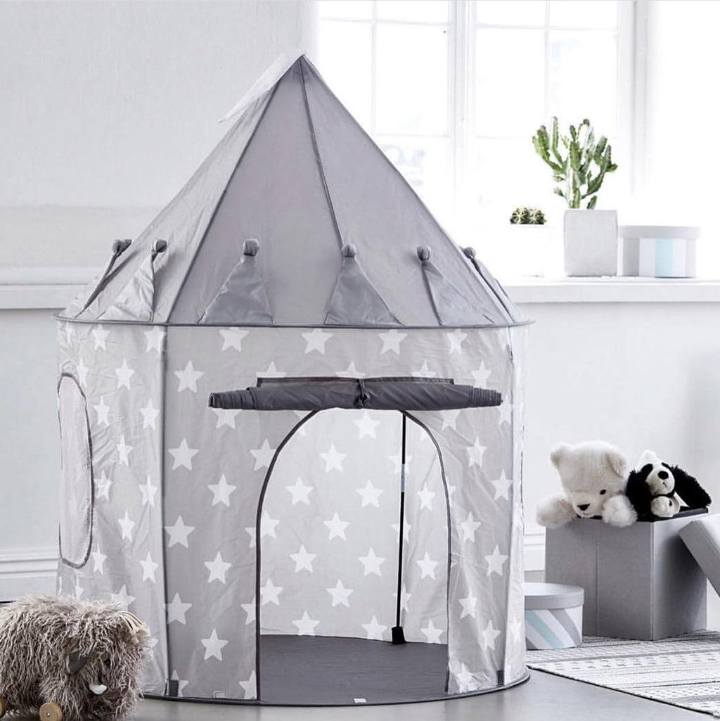 Kids Concept Play Tent - Grey Stars - 4