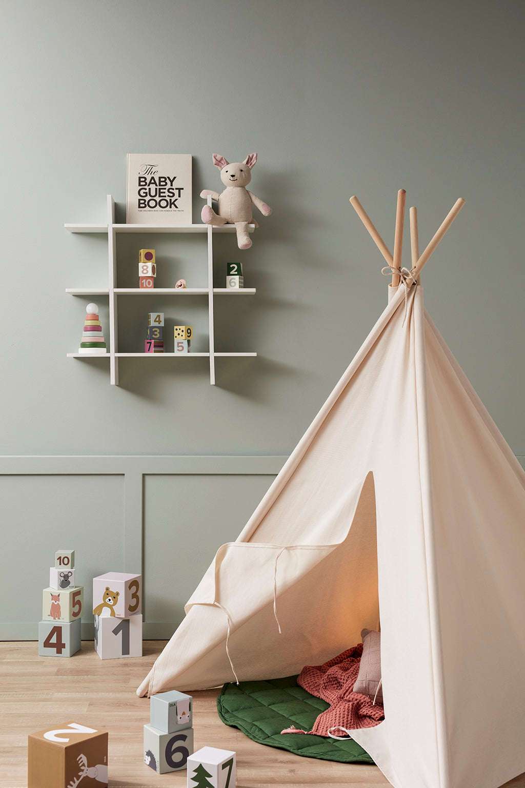 Kids Concept 3 Level Wall Shelf - White - 4