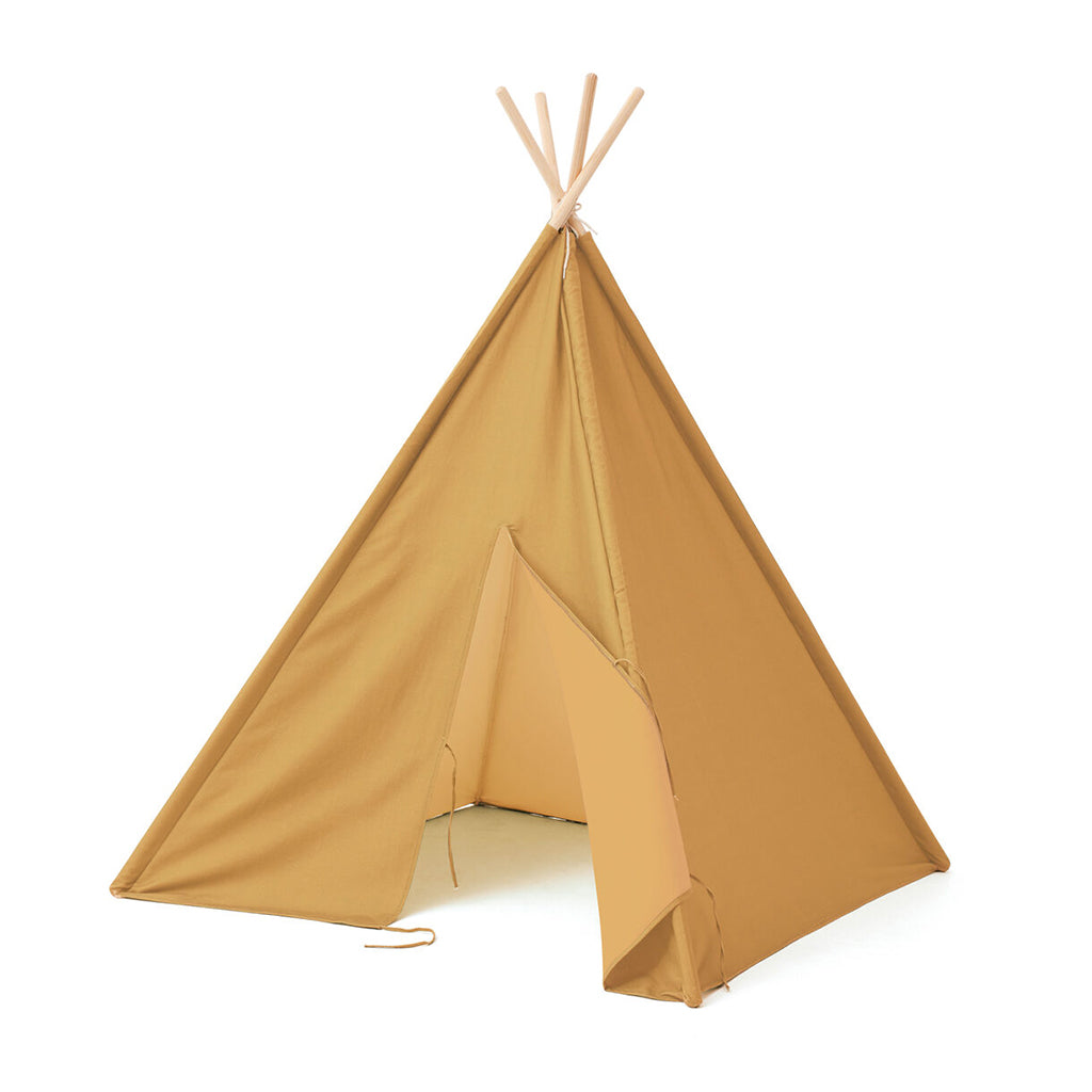 Kids Concept Tipi Tent - Yellow - 1