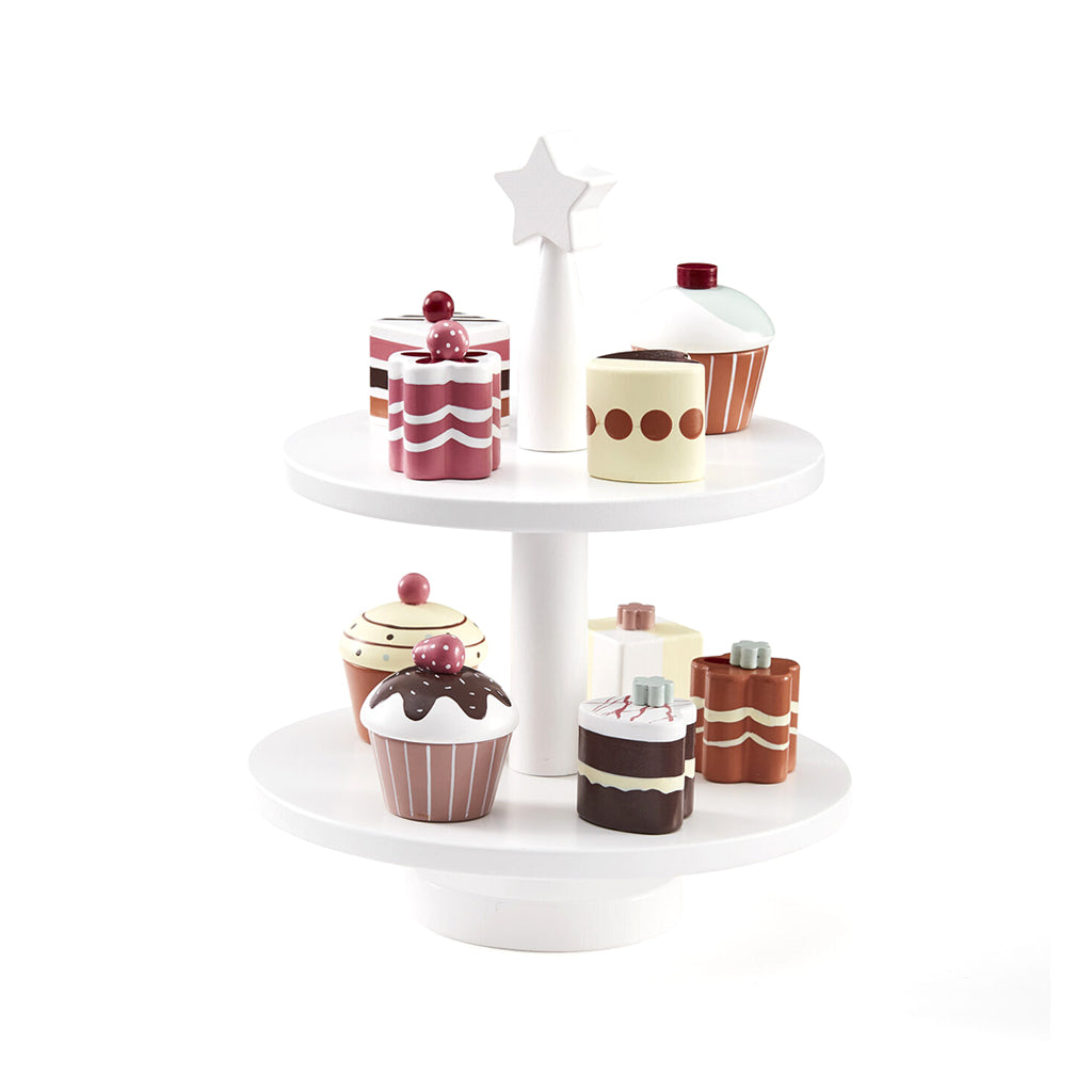 Kids Concept Bistro Wooden Cake Stand - 1