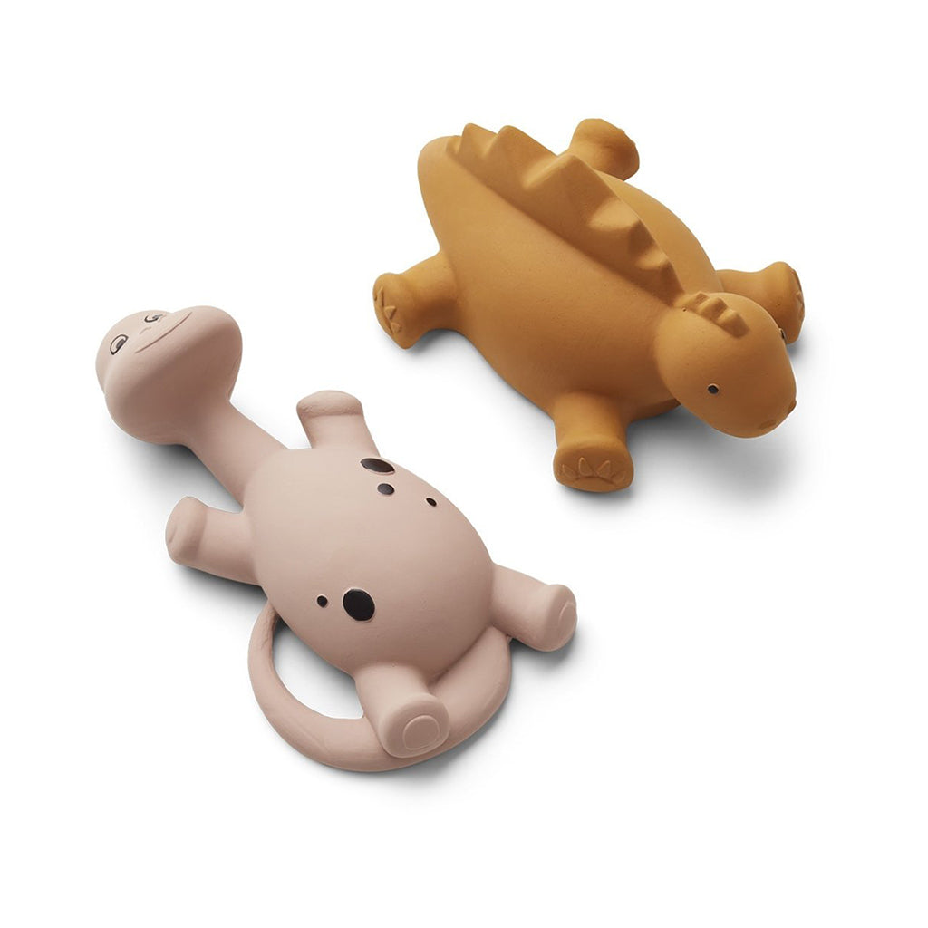 Liewood Algi Bath Toys (Pack of 2) - Cat Mustard - 1