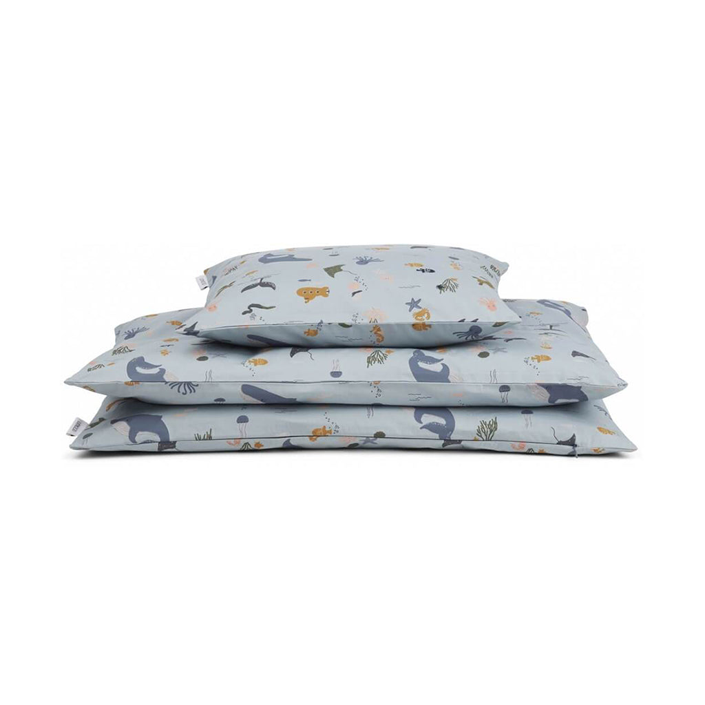 Liewood Carl Single Bed Linen - Sea Creatures - 1
