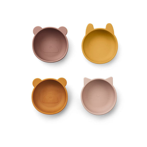Liewood Iggy Silicone Bowls - 4 Pack Rose Mix - 1