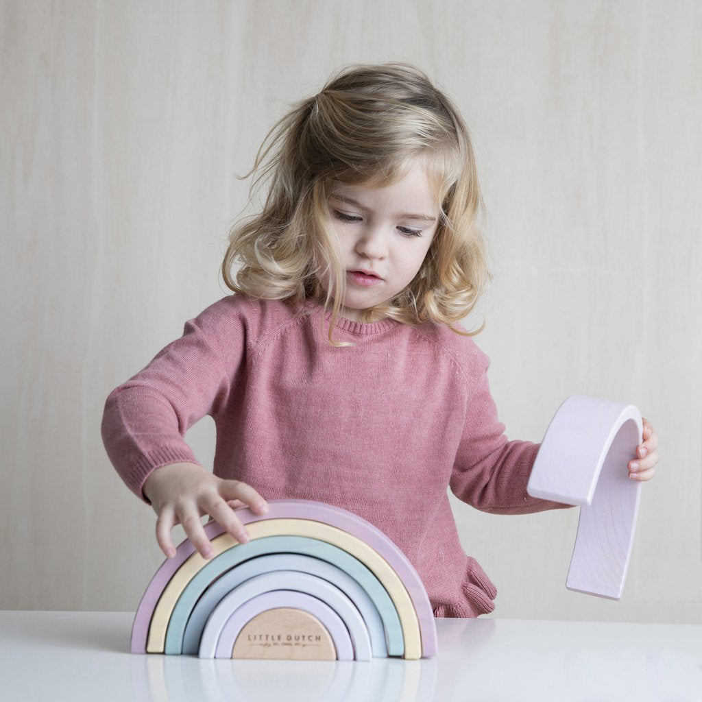 Little Dutch Rainbow Stacker - Pink - 6