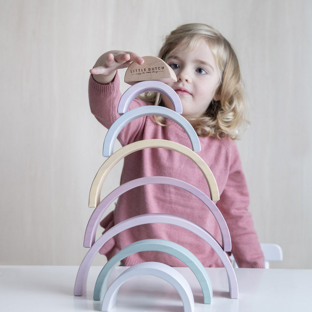 Little Dutch Rainbow Stacker - Pink - 7