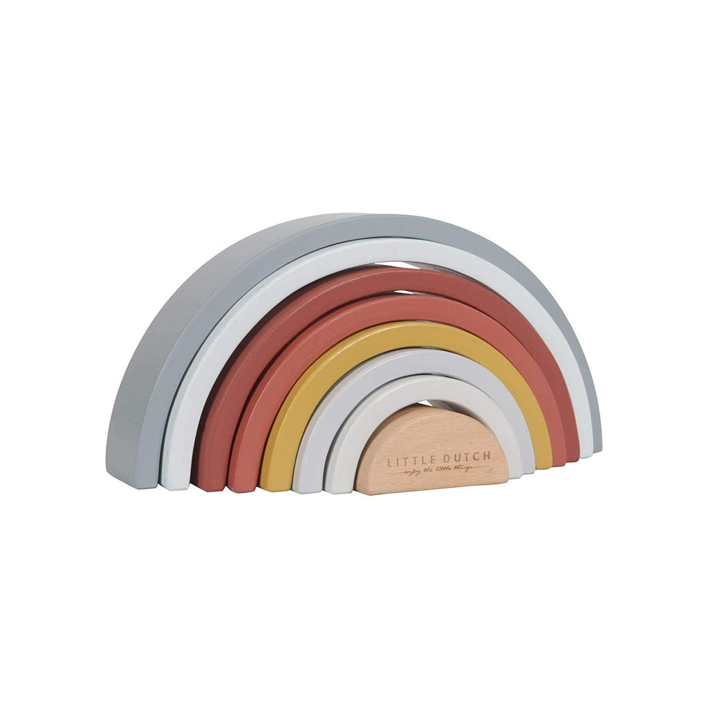 Little Dutch Rainbow Stacker - Pure & Nature - 2