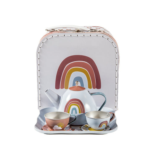 Little Dutch Tea Set in Basket Rainbow - 1