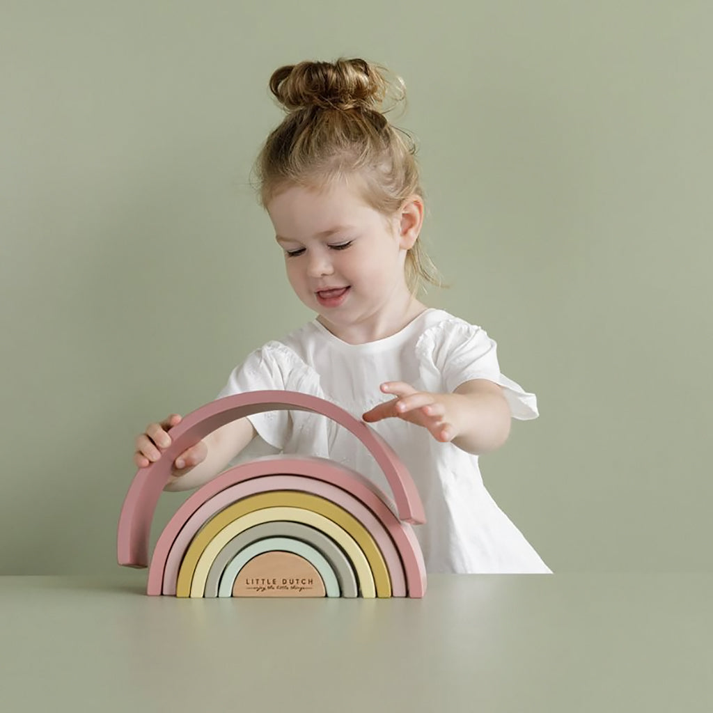 Little Dutch Rainbow Stacker - Pink - 2
