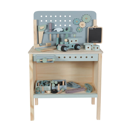 Little Dutch Wooden Workbench with Tool Belt - 1