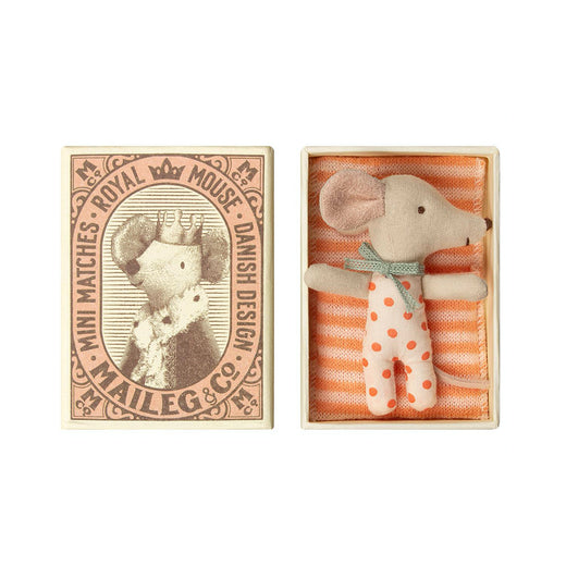 Maileg Baby Mouse Sleepy/Wakey In Box - Girl