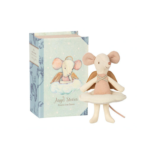 Maileg Big Sister Angel Mouse in a Book-1