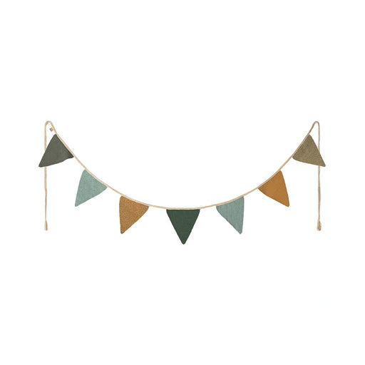 Maileg Garland Seven Flag - Blue/Grey