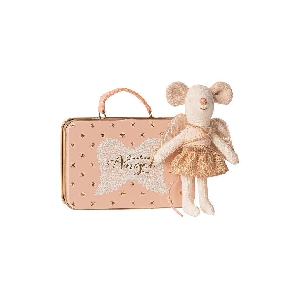 Maileg Guardian Angel In Suitcase Little Sister Mouse - 1