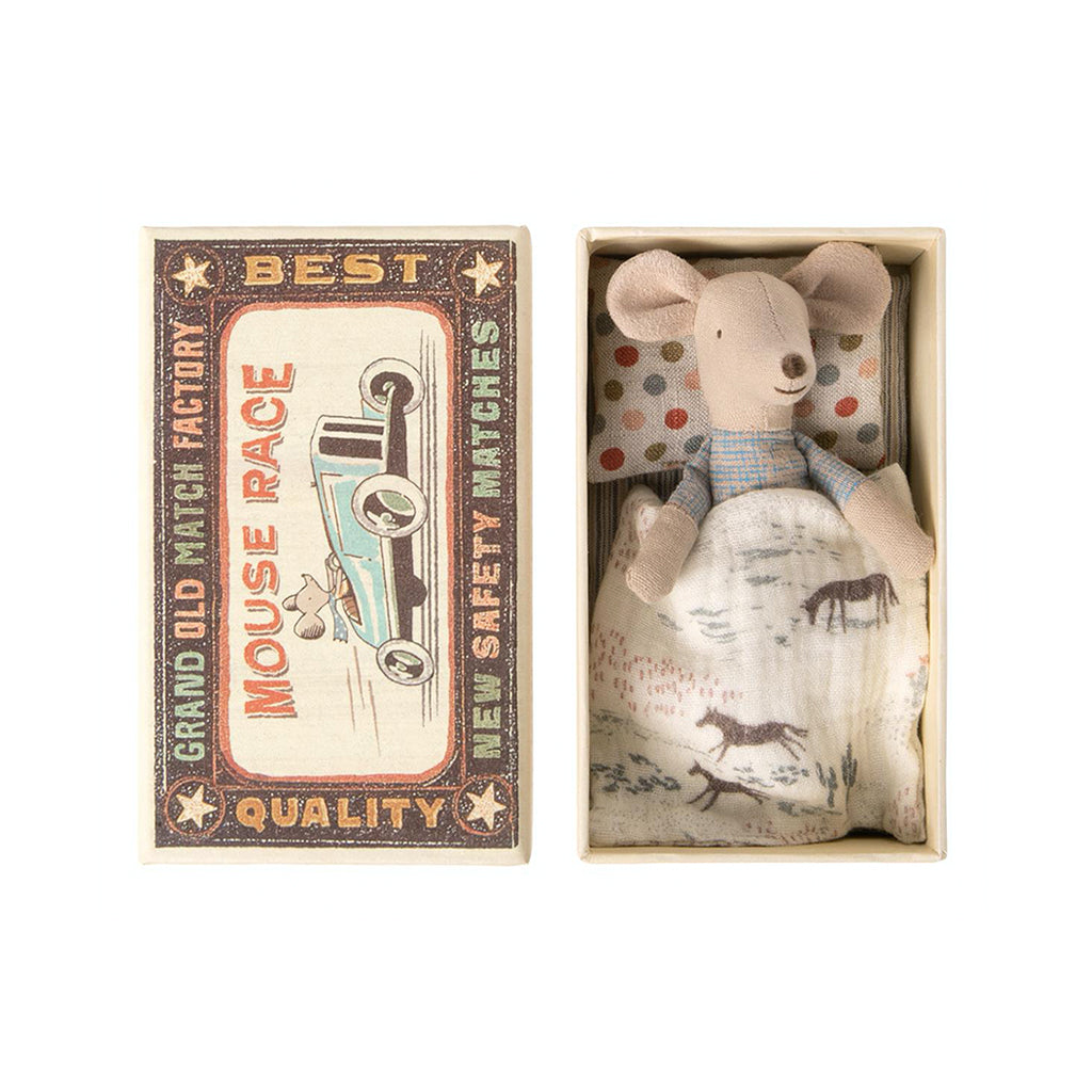 Maileg Little Brother Mouse In Matchbox - 1